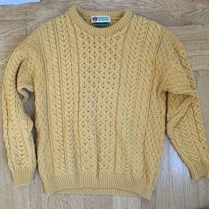 Standun Authentic Aran Sweater Gold Great Condn
